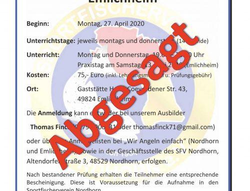 Lehrgang zur Sportfischerprüfung in Emlichheim